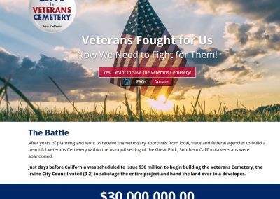 Save the Veterans Cemetery